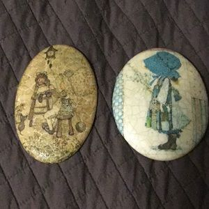 Vintage Holly Hobbie wall plaques